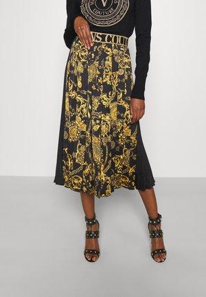 SKIRT - A-line skirt - black/gold