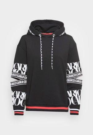 HOODIE WITH CUT OUT - Sweatshirt - black