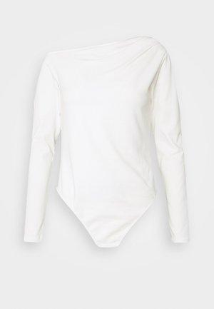 OFF THE SHOULDER BODYSUIT - Long sleeved top - cream