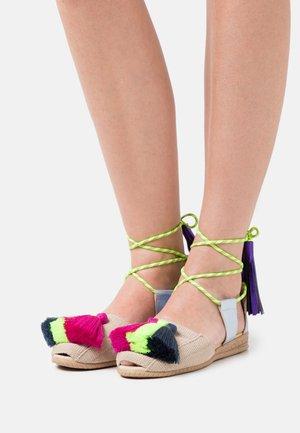 HELICONIA GOMA - Sandals - amarillo fluor/magenta/marino