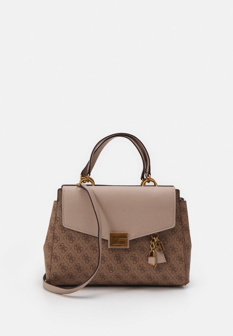 Guess - HANDBAG VALY LARGE GIRLFRIEND SATCHEL - Handbag - latte