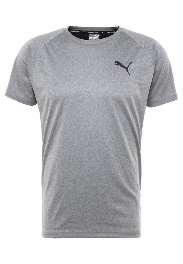 TEE - Basic T-shirt - medium gray heather