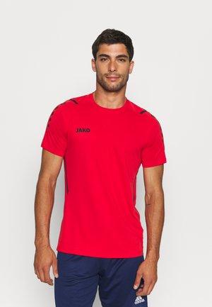 TRIKOT CHALLENGE - T-shirt print - rot/schwarz