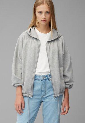 Zip-up hoodie - stone melange