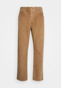 Carhartt WIP - NEWEL PANT DEARBORN - Trousers - hamilton brown - 0