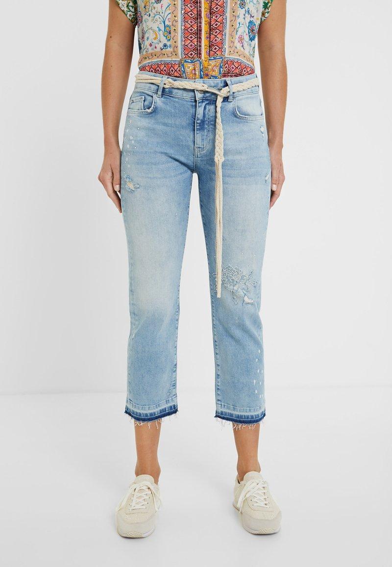 Desigual - PONDIO - Straight leg jeans - blue