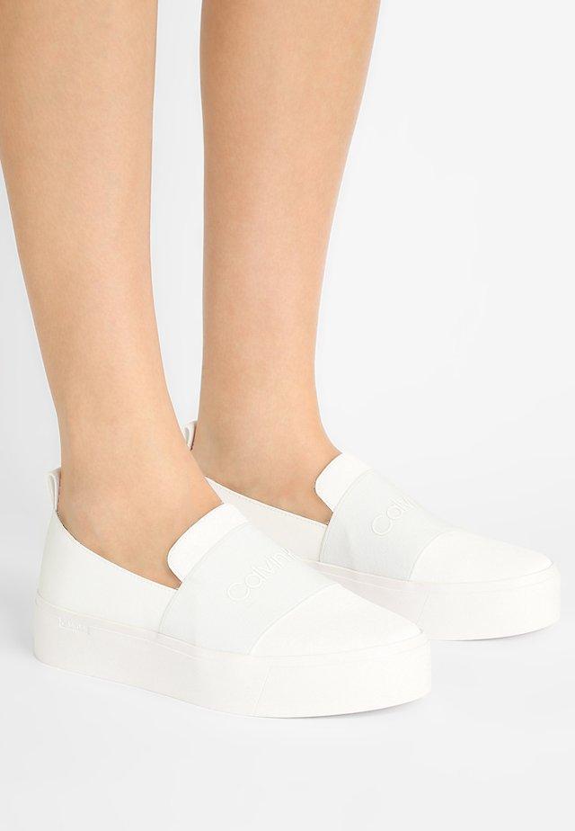 JACINTA - Slip-ons - platinum white