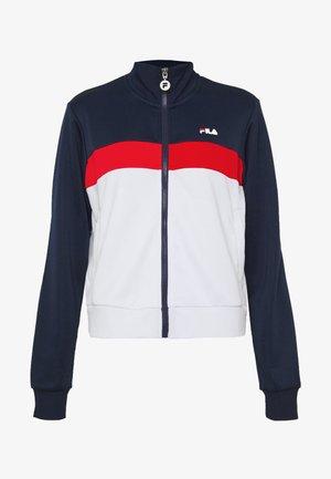 SAMAH - Training jacket - black iris/true red/bright white