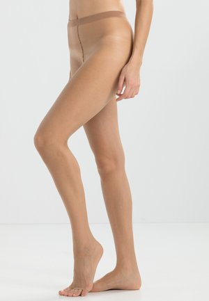 FALKE SHELINA TOELESS 12 DENIER STRUMPFHOSE ULTRA-TRANSPARENT GLÄNZEND  - Tights - powder