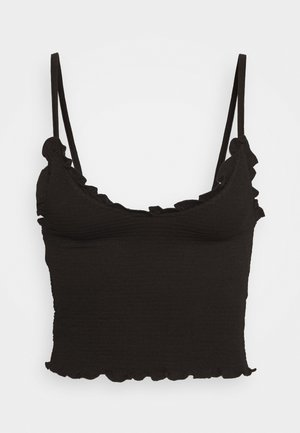 ROUCHED STRAPPY CAMI - Top - black