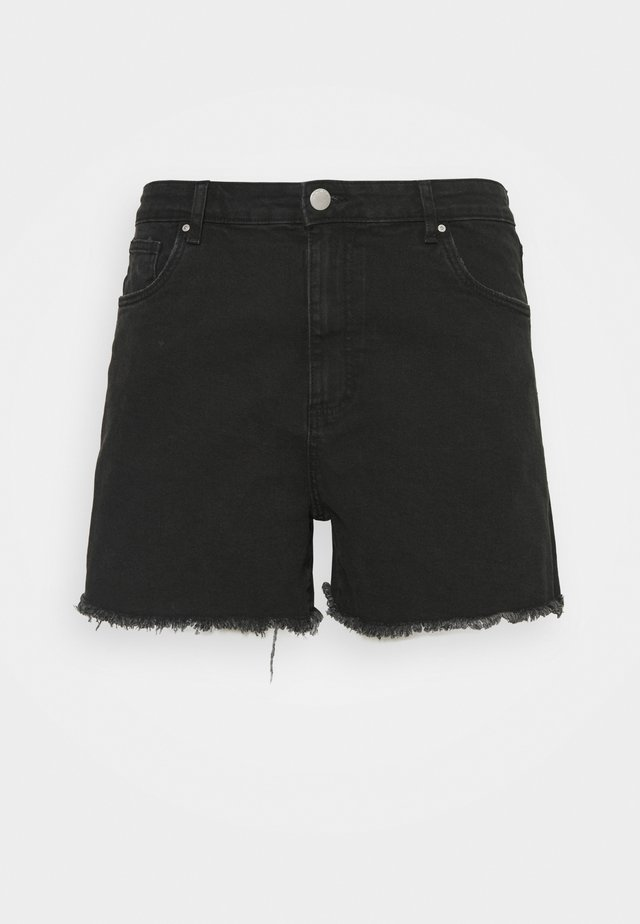 MOM HIGH WAIST - Short en jean - midnight black