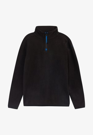 HALFZIP  - Fleece trui - black out