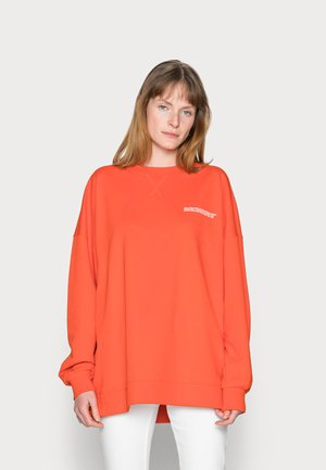WIDE SLEEVES CREWNECK - Mikina - fire red