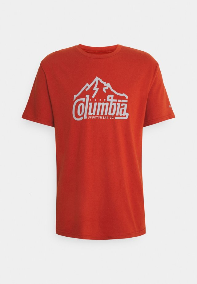 PATH LAKE GRAPHIC TEE - T-shirt con stampa - dark sienna summit