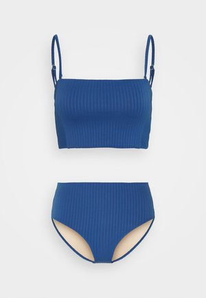 LONGLINE BANDEAU HIGHWAISTED FULL SET - Bikini - marina blue