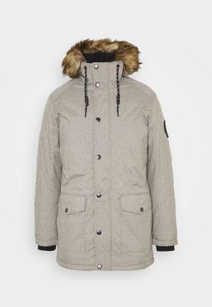Płaszcz zimowy - light grey melange
