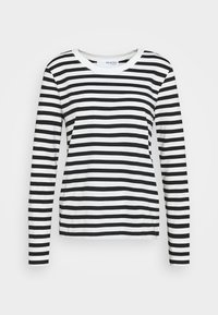 Selected Femme - SLFSTANDARD TEE  - Long sleeved top - black/snow white - 0