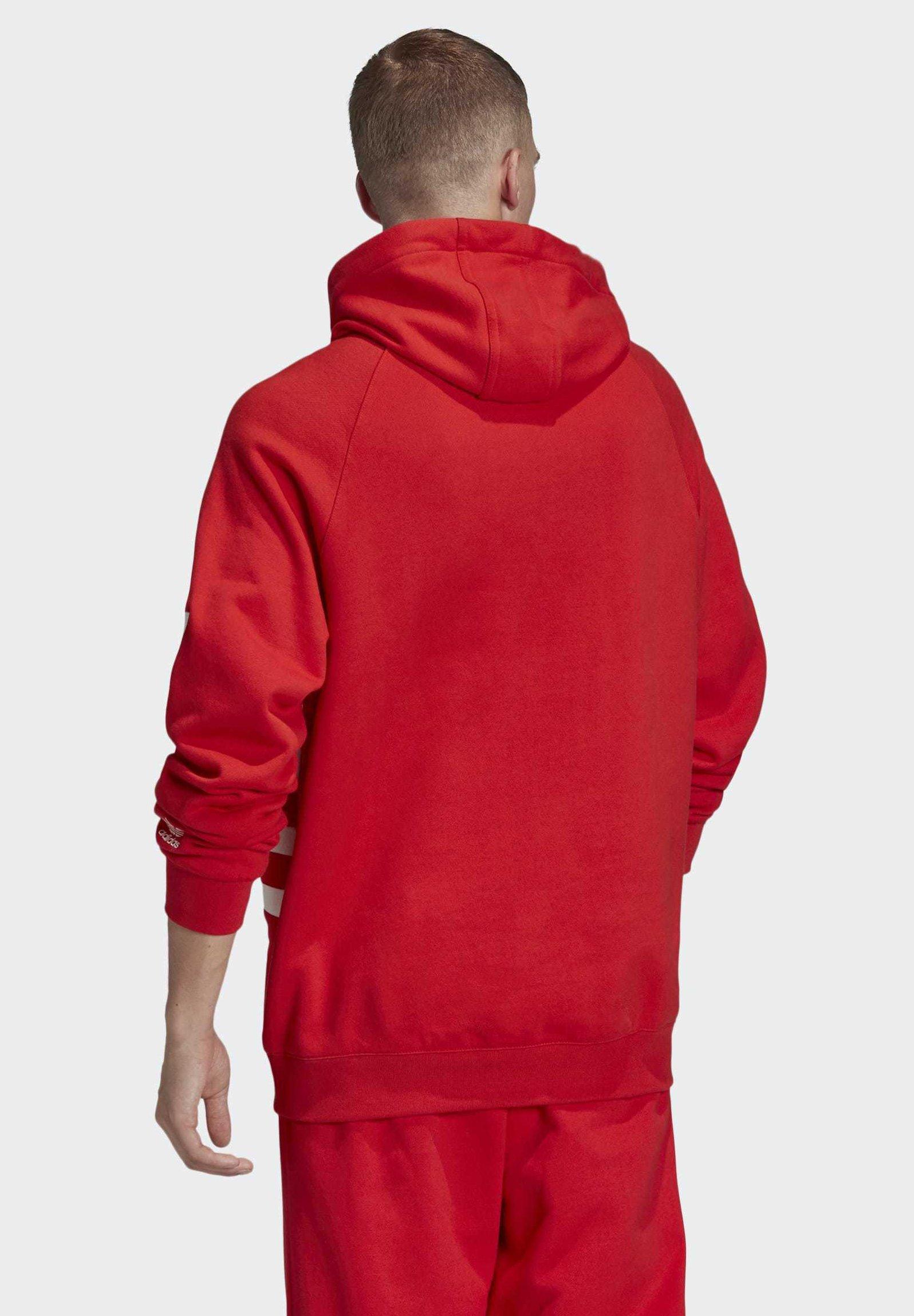 adidas Originals BIG TREFOIL HOODIE Kapuzenpullover red