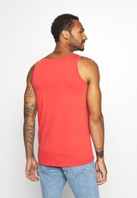 REVOLUTION - TANK WITH CHEST POCKET AND EMBROIDERY - Top - red - 2