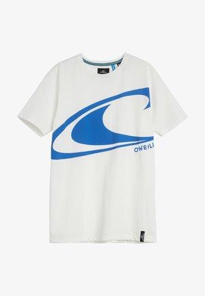 T-shirt print - powder white