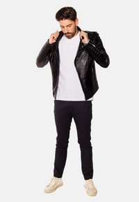 LEATHER HYPE - JORDAN PERFECTO - Leather jacket - black - 6