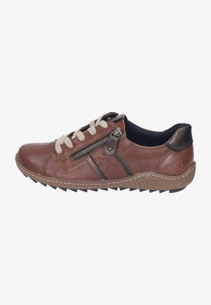 Casual lace-ups - chestnut