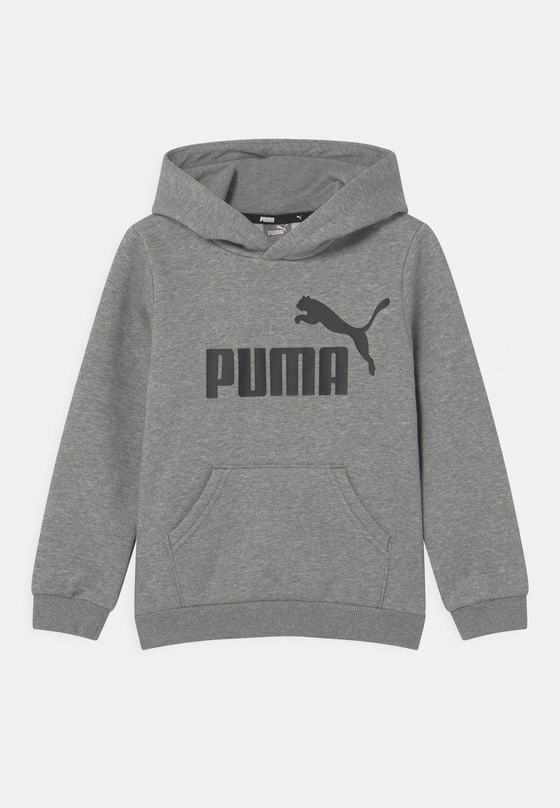 Puma - BIG LOGO HOODIE UNISEX - Sweater - medium gray heather