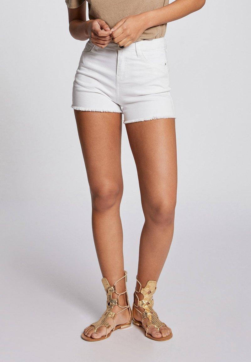 Morgan - Denim shorts - off-white