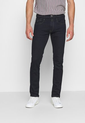 ANBASS AGED - Slim fit jeans - dark blue