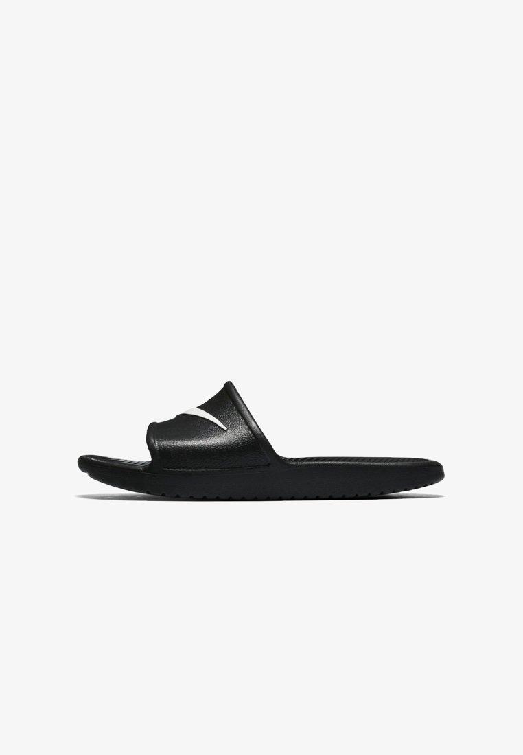 Nike Sportswear - KAWA SHOWER - Pool slides - black/white