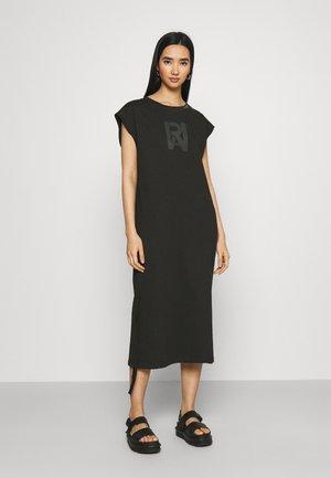 RAW ADJUSTABLE TEE DRESS - Jersey dress - black