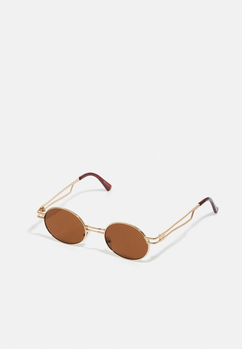 Only & Sons - ONSSUNGLASSES UNISEX - Sunglasses - dark brown/gold combo
