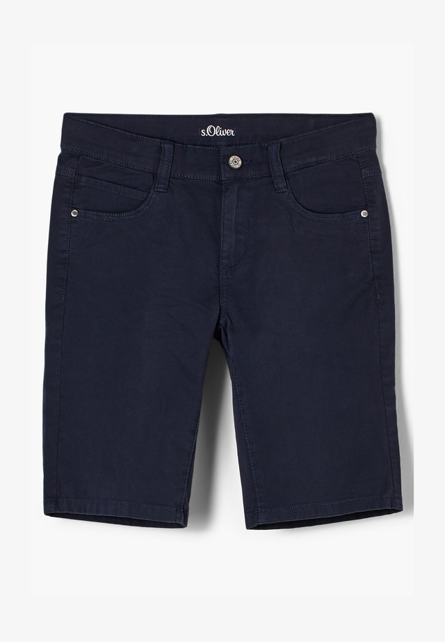 REGULAR FIT - Jeansshort - blue