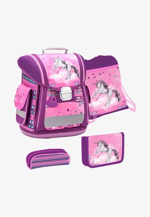 SET - School bag - light pink
