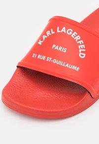 KARL LAGERFELD - KONDO II MAISON SLIDE - Mules - red - 6