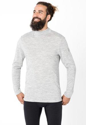 MERINO LONGSLEEVE M BASE TURTLE NECK 175 - Long sleeved top - grau