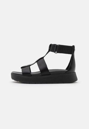 EEBA - Sandały na platformie - black