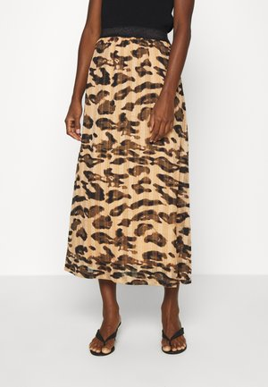 BELINDA SKIRT BELOW KNEE - Maxi skirt - prairie sand
