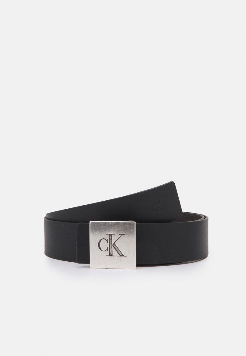 Calvin Klein Jeans - SQUARE PLAQUE BELT - Skärp - black/bitter brown
