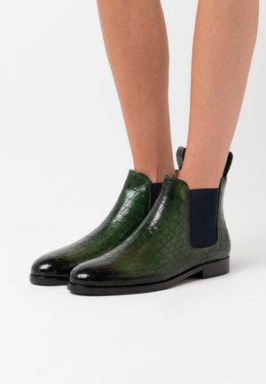 SUSAN - Boots à talons - prato/navy