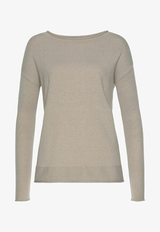 Pullover - beige melang