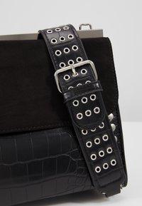 Topshop - RETRO STUDDED SHOULDER - Handbag - black - 6