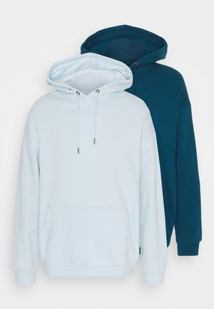 2 PACK UNISEX - Luvtröja - teal/light blue