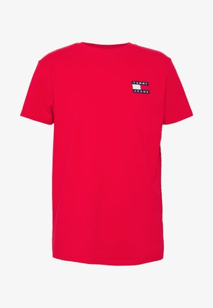 BADGE TEE  - Basic T-shirt - deep crimson