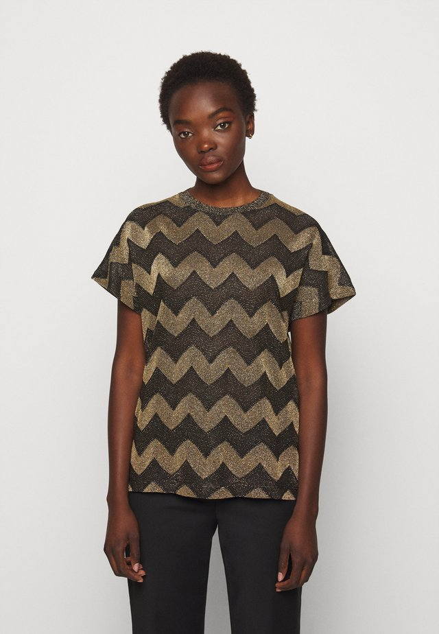 BLUSA - T-shirt med print - black / gold