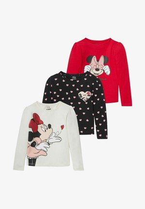 DISNEY MINNIE MAUS 3 PACK - Long sleeved top - red / cremewhite