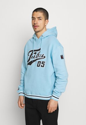 VARSITY HOODED - Hoodie - lightblue