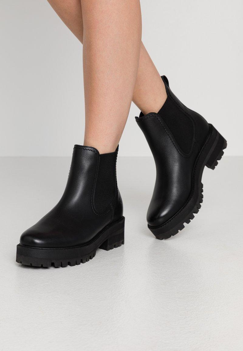 Tamaris - BOOTS - Platform ankle boots - black