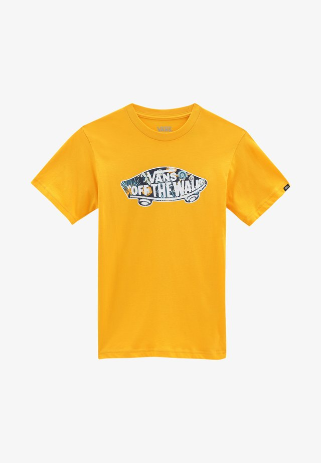 BY OTW LOGO FILL BOYS - Camiseta estampada - saffron/califas