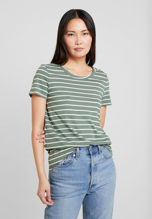Print T-shirt - khaki green